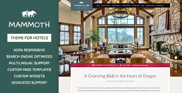 Mammoth Inn – Hotel WordPress Theme