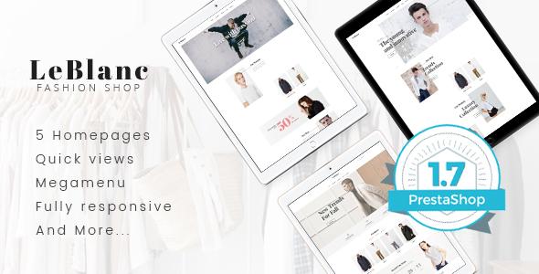 Leo Leblanc Responsive Prestashop Theme - PrestaShop eCommerce