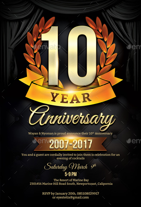 Anniversary Flyer | Anniversary Flyer Template By Eyestetixstudio Graphicriver