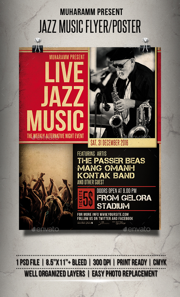 Jazz Music Flyer / Poster - Events Flyers