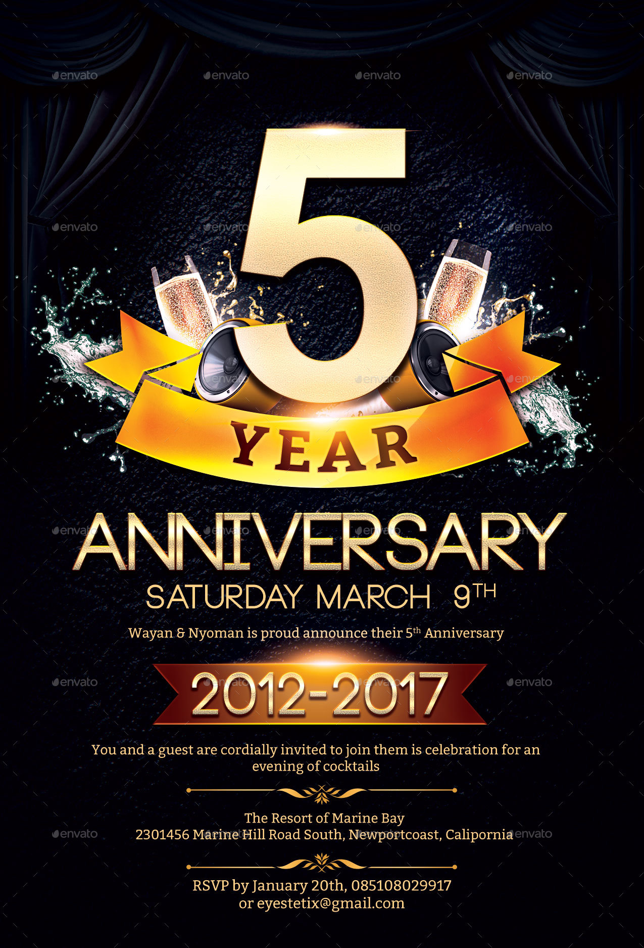 Superb Anniversary Flyer   Anniversary Greeting Cards · Preview/2  Preview/3 Preview/4 ...
