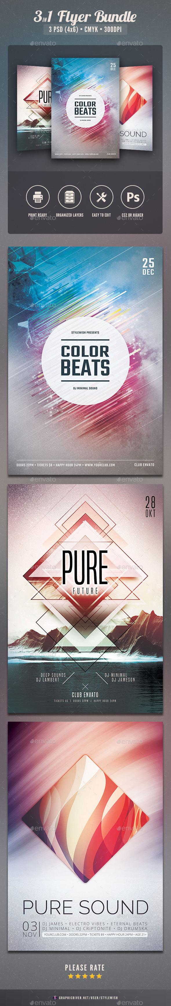 Party Flyer Bundle Vol.32 - Clubs & Parties Events