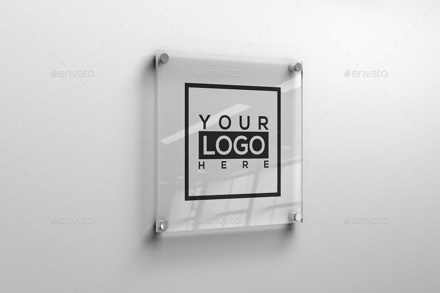 Square Glass Plate Logo Mockup By Listygrey Graphicriver