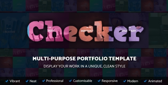 Checker – Unique Multi-Purpose Portfolio Template