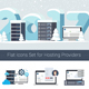 Set of Hosting Icons in Flat Style - GraphicRiver Item for Sale