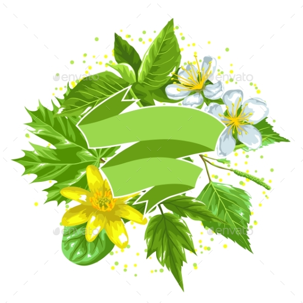 Spring Green Leaves and Flowers. - Flowers & Plants Nature