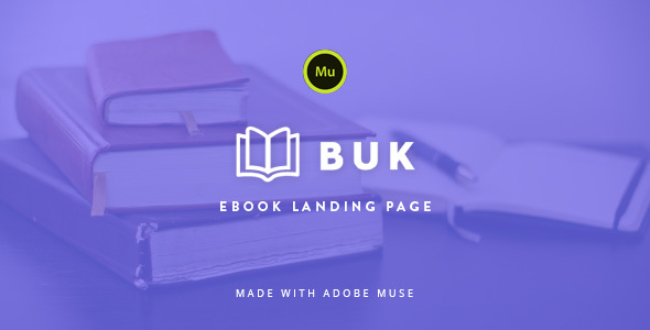 Buk – EBook Landing Page Muse Template