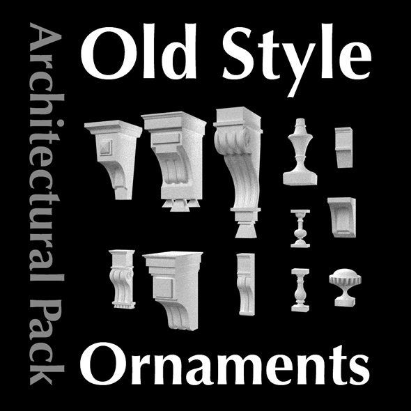 Architectural Retro Ornaments & Old Style Decors Pack - 3DOcean Item for Sale