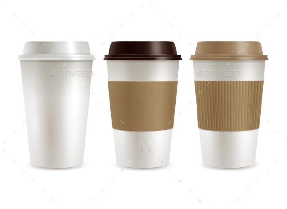 Coffee Plastic Covers Set - Services Commercial / Shopping
