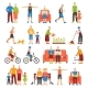 Active Old People Set - GraphicRiver Item for Sale