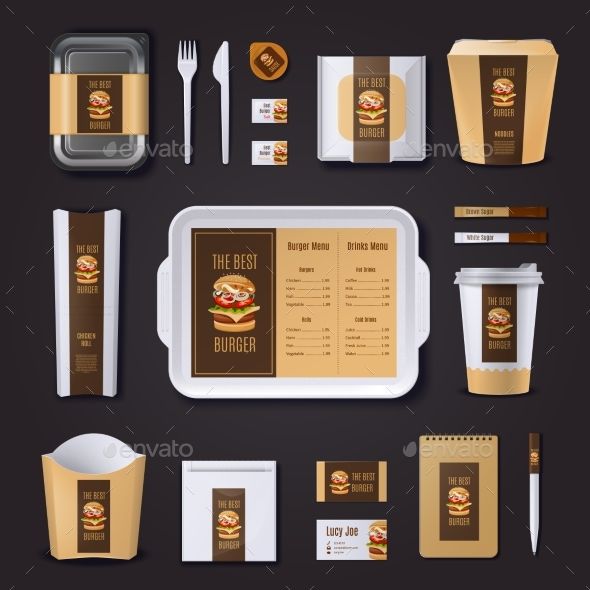 Burger Bar Corporate Identity - Business Conceptual