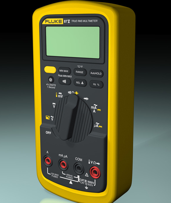 FLUKE 87V True RMS Multimeter - 3DOcean Item for Sale