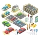 Parking Isometric Elements Set - GraphicRiver Item for Sale