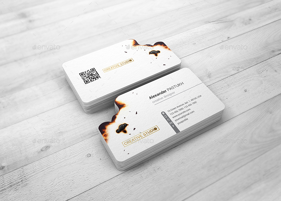 Burnt edges business card mock up by streetd graphicriver business cards print preview01preview1g reheart Gallery