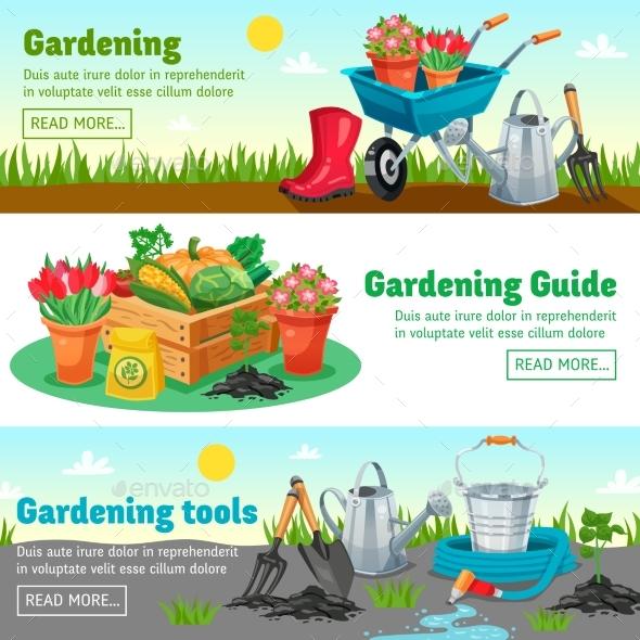 Gardening Horizontal Banners - Nature Conceptual