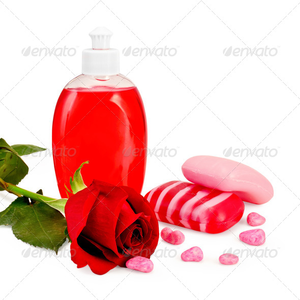 Soap different with rose - Stock Photo - Images