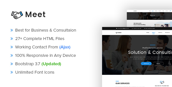 Meet – Business and Consultation Responsive HTML Template