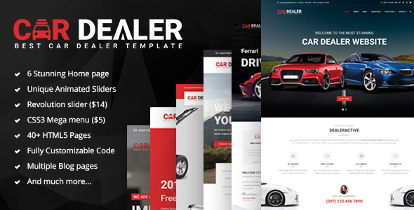 Car Dealer – The Best Car Dealer Automotive Responsive HTML5 Template