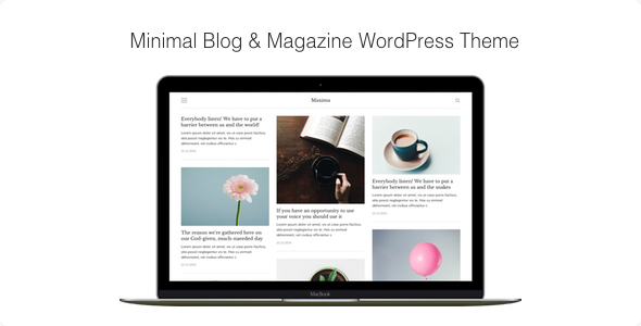 Maxima – Minimal Blog & Magazine WordPress Theme
