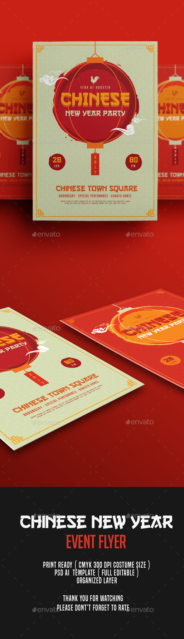 Chinese New Year Flyer By Ming Ming Graphicriver
