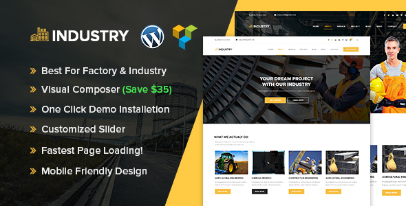 Industry – Industrial & Factory WordPress theme