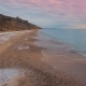 Epic Flying Drone To Over the Winter Beach During a Beautiful Pink Sunset. . - VideoHive Item for Sale