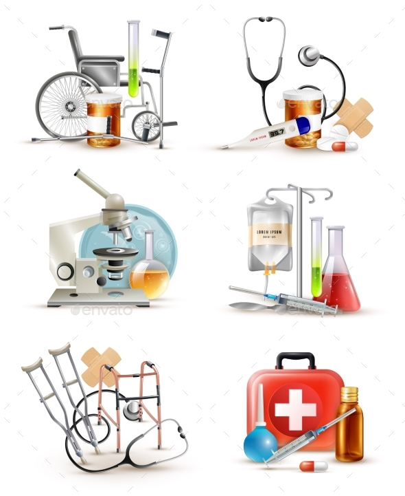 Medical Supply Elements Set - Health/Medicine Conceptual
