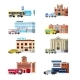 Download Vector City Services and Buildings Orthogonal Set