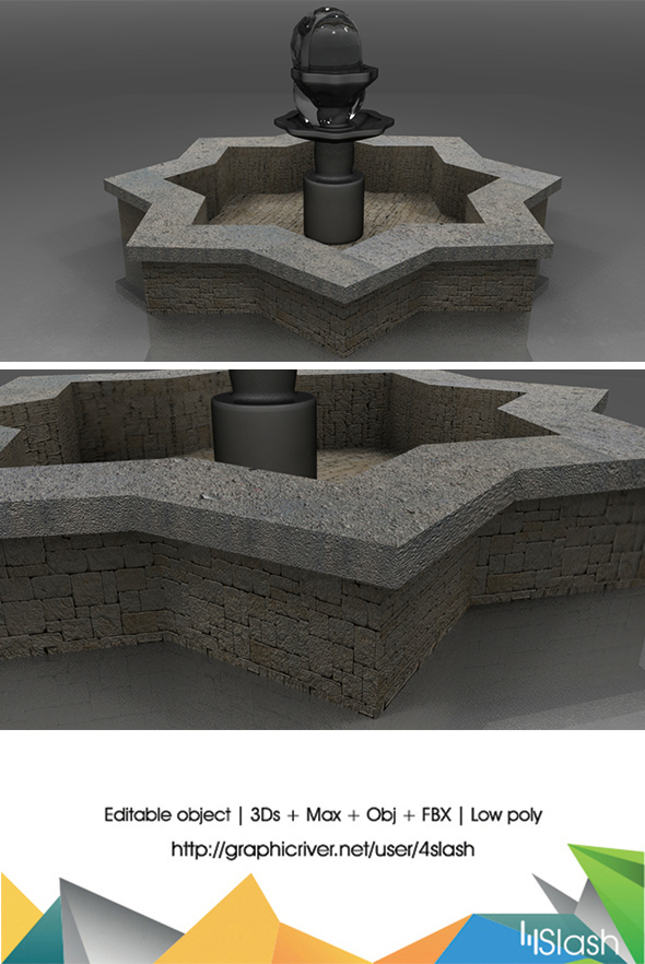 3d Fountain - 3DOcean Item for Sale