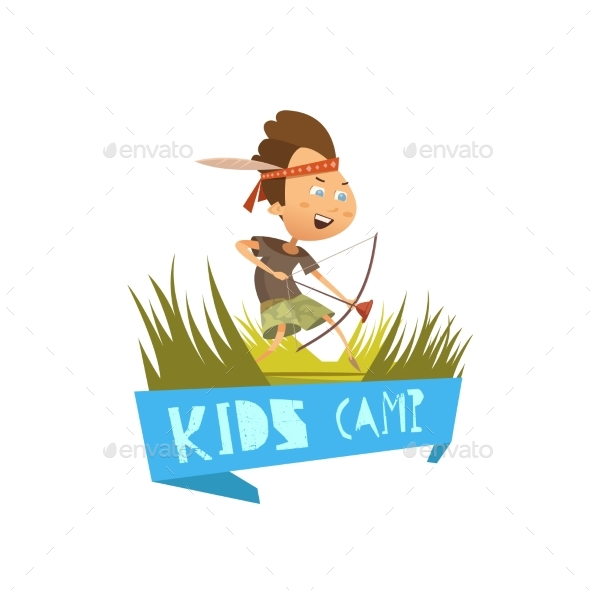Kids Camp Concept - People Characters