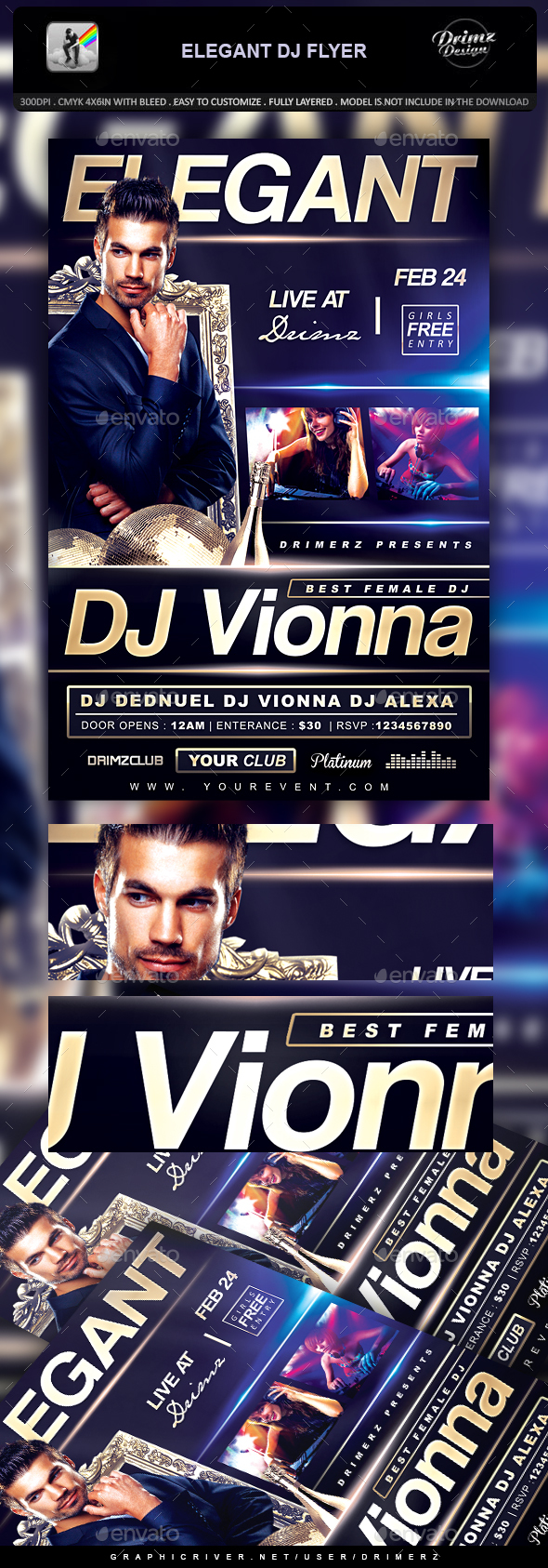 Elegant DJ Flyer - Events Flyers