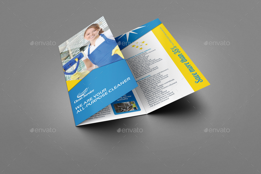 cleaning service brochure templates - cleaning services tri fold brochure vol 3 by owpictures
