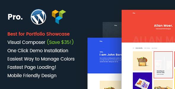 Pro – Mimimal portfolio WordPress theme