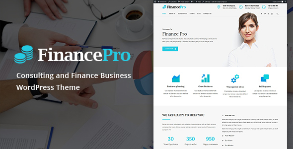 FinancePro – Consulting and Finance Business WordPress Theme