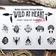 Wild at Heart Native American Vintage Badges Vol.2 - GraphicRiver Item for Sale