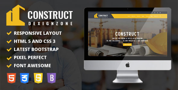 Construct : Construction, Building & Maintenance Business Template