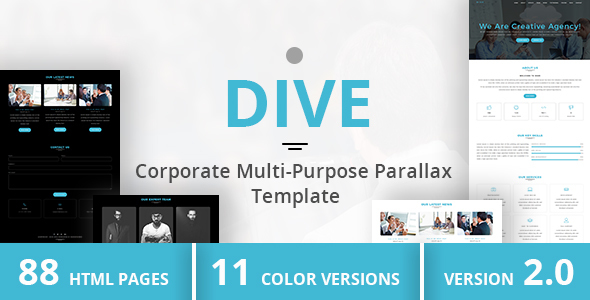 DIVE - Corporate Multi-Purpose Parallax Template
