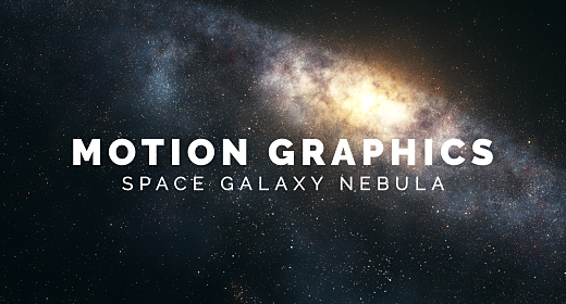 Motion Graphics Space Galaxy