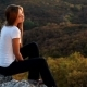 Young Woman on a Rock - VideoHive Item for Sale