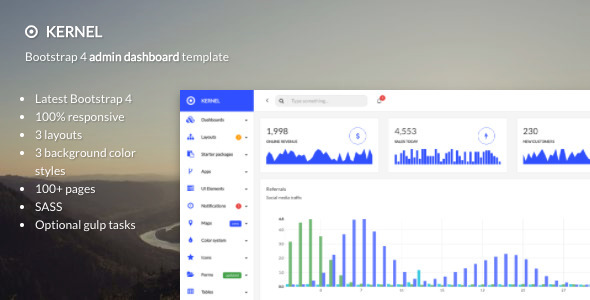 Kernel – Bootstrap 4 admin template