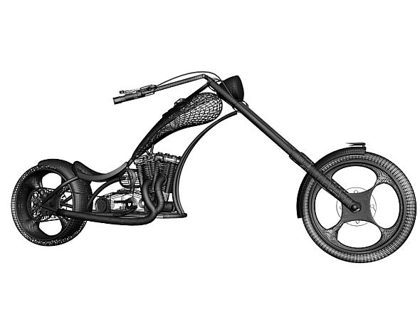 3d model of American Chopper - 3DOcean Item for Sale