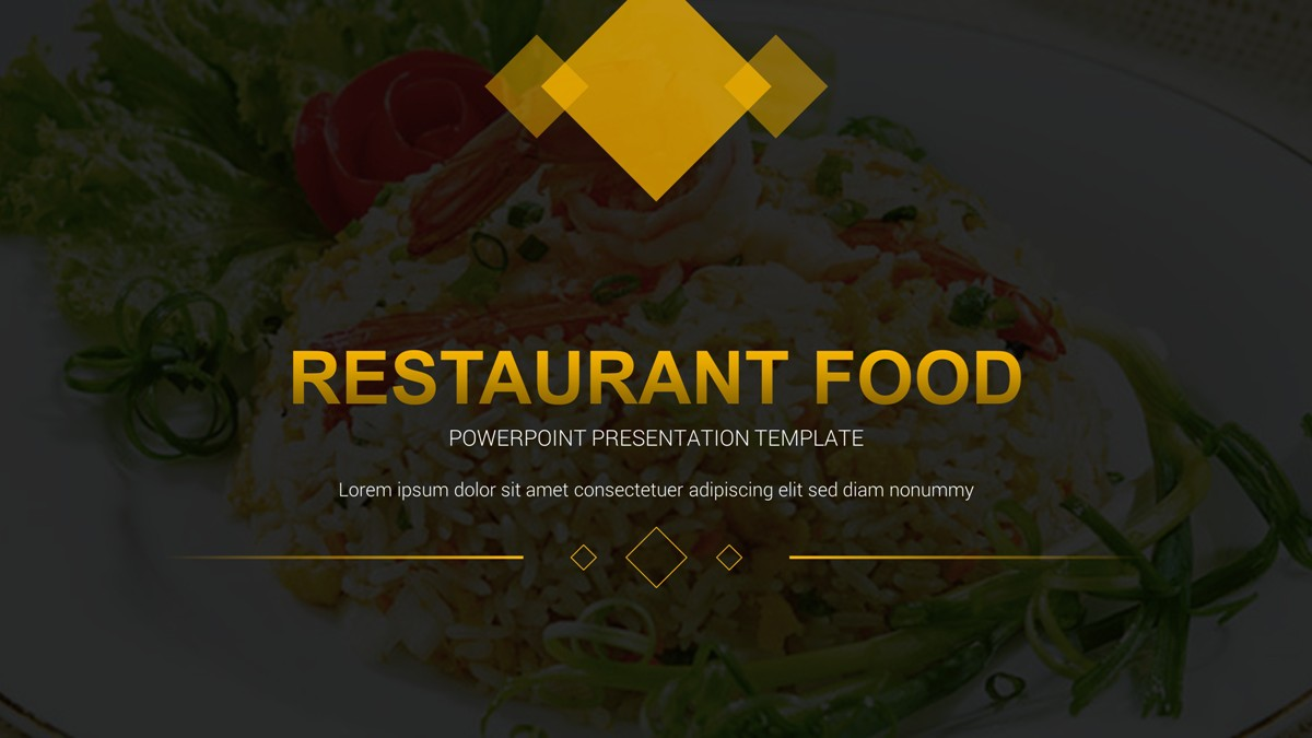 restaurant menu powerpoint template image collections - templates, Powerpoint templates