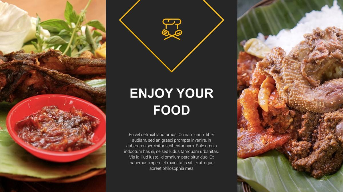 Restaurant food presentation template by rrgraph graphicriver restaurant food presentation template toneelgroepblik Gallery