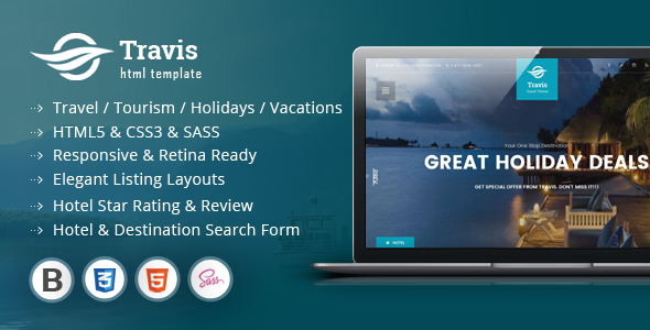 Travis Travel Listing HTML5 Template