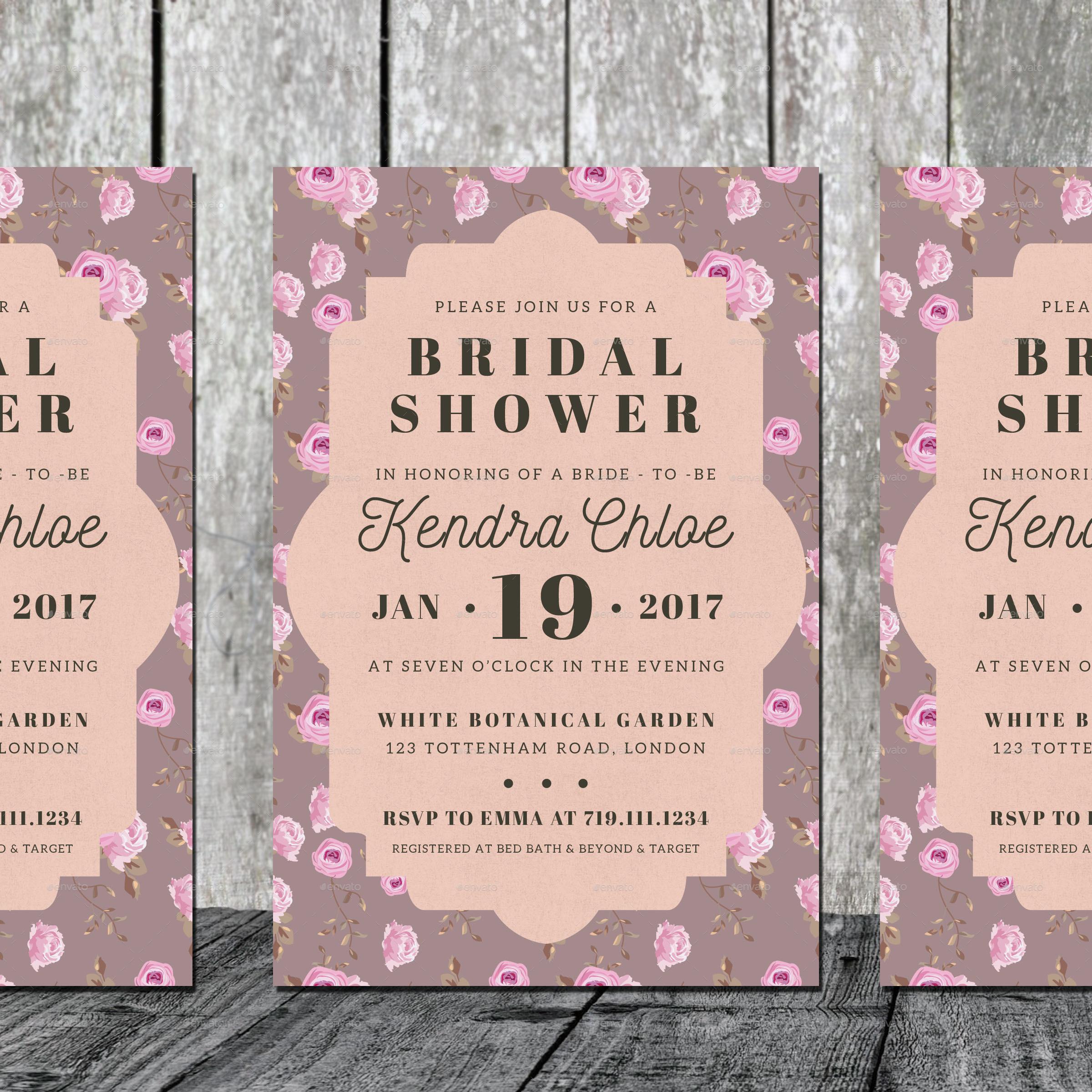 Vintage - Bridal Shower Invitation by iamwulano   GraphicRiver
