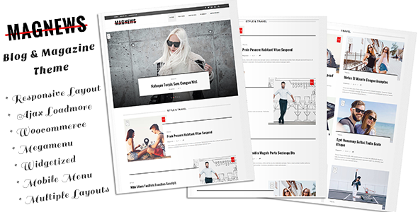 Magnews - Clean Blog and Magazine Theme - News / Editorial Blog / Magazine