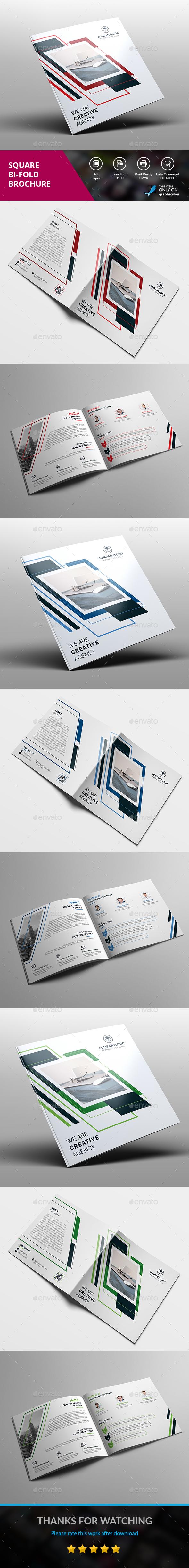 Square Brochure - Brochures Print Templates
