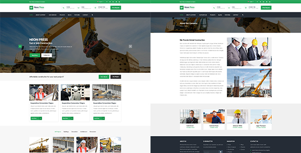 Neon-Press – Construction Business WordPress Theme