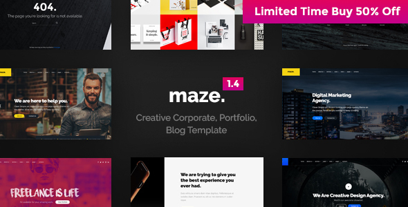 Multi-Purpose Maze Template – Creative Multi-Purpose PSD Template
