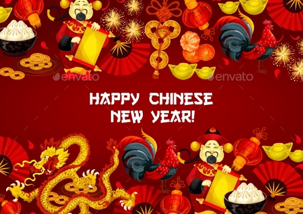 Chinese New Year and Spring Festival Poster Design - Miscellaneous Seasons/Holidays
